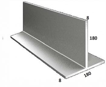 180/8 x 180/8 Galvanised T Bar