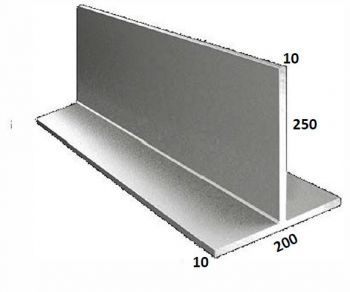 200/10 x 250/10 Galvanised T Bar