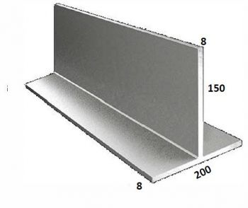 200/8 x 150/8 Galvanised T Bar
