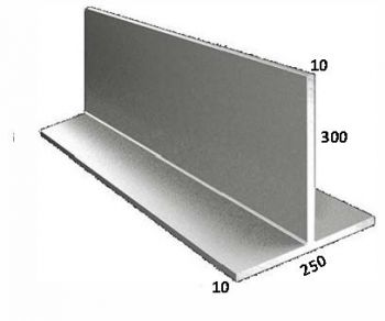 250/10 x 300/10 Galvanised T Bar